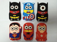 SuperHeroes Silicone Rubber Back Cover Case For Iphone 5 5S