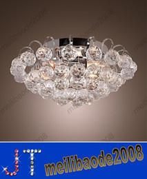 Crystal Semi Flush Mount Lighting: Modern simple Crystal Semi Flush Mount Chrome Finish Mini Stylish 3 Lights  chandelier ceiling light Dia400*H150mm HSA327,Lighting
