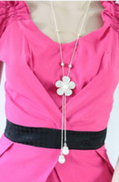 Chains Fashion Necklaces Fashion Full of Diamond Tassel Pendant Necklace,Daisy Flowers Sweater Chain#N484