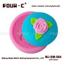 Wholesale Fondant Bakeware Decorating D Rose Flower Fondant Cupcake Chocolate Sugarcraft Silicone Mold