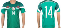 Wholesale world cup Mexico Home soccer jerseys Best Thai Quality Green top quality Free Custom size X XL
