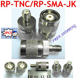 Wholesale RP TNC male jack center to RP SMA female plug RF coaxial adapter connector