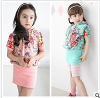 TuTu cute dress - 2015 Girl Summer Floral Dresses Hot Sale Childrens Short Sleeve Casual Dresses Kids New Cute Dresses