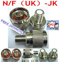 Wholesale N male plug to F female jack RF coaxial adapter connector