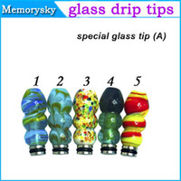 Wholesale Colorful Electronic Cigarette Accessories mouth of glass piece for e atomizer Clearomizer mouth mouthpiece drip tip
