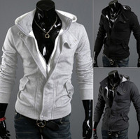 Wholesale 2014 Men s Hot hooded cardigan casual brushed fashion hoodies outerwear men s cotton clothing