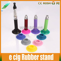 Cheap Hot Ego Holder Ego Battery Silicone Sucker E Cigarette Ego Battery Base Stand Fit For Ego Battery E Cig CE4 CE5 Atomizer With Mixed Colors