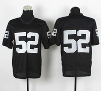 Football Men Short Top Quality ! 2014 New Cheap American Football Jerseys #52 Khalil Mack White Black Elite Jerseys Embroidery Logo Mix Order !