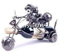 Wholesale by post lover sweethearts motorcycle wine holder rack metal artwork