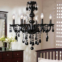 Wholesale luxury version Bulbs European Candle Crystal Chandeliers Ceiling v Bedroom Living Room Modern E14 Retail and