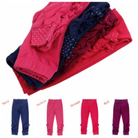 Wholesale 4 colors to choose nova brand new arrivals kids leggings factory price cheap baby tights girls pants with bow G4748