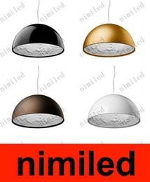 Nimi293 diámetro los 40cm / diámetro los 60cm blanco / negro / de oro / Brown Italia Flos Skygarden Lámparas colgantes grandes lámpara de la lámpara del resplandor de Droplight de la lámpara de la lámpara
