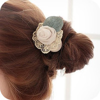 Headbands silk yarn headbands (Order Below 6USD is not shipped, can Mixed Item) handmade hair accessory lace silk rose flower hair rope 7g