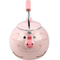 Wholesale Best Enamel Pig Kettle L Porcelain Enamel Teapot Kettle Whistle Kettle Enamelware Drop Shipping