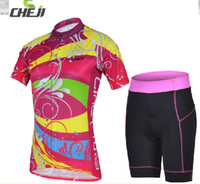 Short Anti Bacterial Women Cheji dazzle colour cycling jerseys suit with short sleeves Women's volleyball team sweat permeability bike clothing exclusive brand new pro