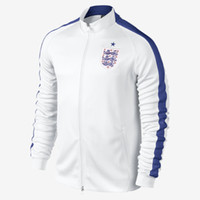 Wholesale 2014 World Cup N98 Track Jacket White England Soccer Jackets High Quality Cheap National Football Wear Hot Sale Mens Jackets Mix Order