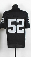 Free Shipping #52 Mack Black 2014 American Football Elite Je...