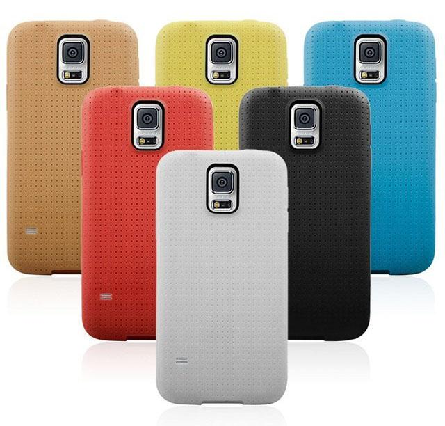 Buy Galaxy S5 Official Style Mesh Dot Dots Soft TPU Gel Case Cover Samsung i9600 Note4 Mini HTC M8 LG G3 Huawei P7