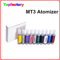 Wholesale Evod MT3 Atomizer clearomizer for ego electronic cigarette Evod atomizer for e cigarette kits Various Colors DHL Fast Free