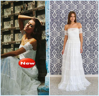 A-Line Reference Images Strapless Bohemian strapless lace beach wedding dress featuring stunning arm bands amazing lace panelled skirt A Line Full Long 2014 NEW Bridal Gowns