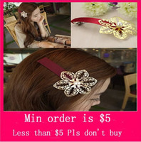 Wholesale Min Order Mix Jewelry order Hollow Flower Fashion Girls Hair Accessories Hair Clips Hairpin Bobby Pin Sales H0354