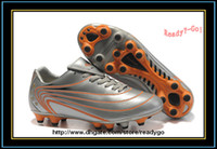 Unisex hg - Soccer Shoe Outdoor Cleats TPU PU HG Black Sliver Gold Football Sports Boots Cleat shoes Athletic Tiebao
