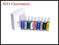 Wholesale MT3 Clearomizer EVOD Atomizer Cartomizer ml Tank for ego t evod Electronic Cigarette E Cigarette E Cig All Colors Instock Good Quality