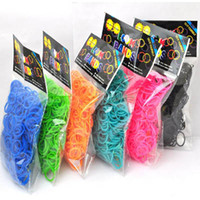 Wholesale Colorful Christmas Gift Rainbow loom kit loom Twistz DIY rubber Silicone wrist bands bracelet bands S clips bracelets