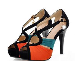2017 taille 34 talon rose Nouvelle arrivée 2,014 Livraison gratuite Pompes Femmes Hot Neon de couleur 11M ultra sexy à talons hauts / rose chaussures plate-forme du parti jaune Taille 34-39 taille 34 talon rose à vendre
