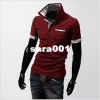 Cotton Cardigan Tops Wholesale-men T-shirts free shipping men's clothes Q01 short sleeve&long sleeve POLO shirts hot sale M L XL XXL!!