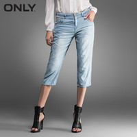 Wholesale ONLY after cotton harem petals summer shaping hip pocket Cropped Jeans Women T