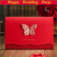 Cheap Invitations & Invitation Buckles Wedding Invitations Best Folded Red Wedding Invitation Card