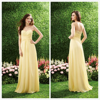 Reference Images Lace Sleeveless Cheap Lace Pleats 2014 Bridesmaid Dresses Backless Dresses Yellow Cheap Sheat Sweetheart Ruched Floor Length Pink Chiffon Dress