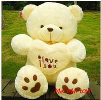 achat en gros de coeur d'amour ours en peluche-Cadeau de Noël cadeau de nouvelle année Tenir le coeur ours amour panda ours grand ours en peluche étreinte coeur coeur ours en peluche poupée