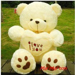 Cadeau de Noël cadeau de nouvelle année Tenir le coeur ours amour panda ours grand ours en peluche étreinte coeur coeur ours en peluche poupée cheap hugging plush toys à partir de étreindre jouets en peluche fournisseurs