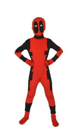 Wholesale Deadpool Zentai Suit Superhero Costume Cosplay Kids Size Lycra And Spandex