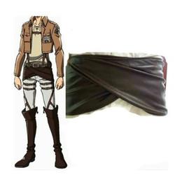 Avental da forma das mulheres Ataque no titã (Shingeki nenhum Kyojin) PU Leather Cosplay nádegas Mulheres pinafore / saia