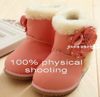 Wholesale Retail high quality us us6 size girls baby Winter boots infant Snow boots Flowers cotton boots outlets DROP SHIPPING pairs