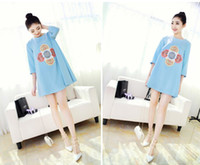 Wholesale 2014 new Summer Pregnant Maternity Dresses Casual Pregnancy Clothes A shape Chiffon Knee length dress