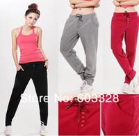 Pants Women Bootcut Fashion Korean Style Women's Casual Drawstring Palazzo Sweatpant Girl Sports Harem Yoga Pants Trousers Gym Clothes