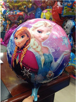 Wholesale In stock Frozen x45cm balloon for birthday party Princess Anna Elsa inch round Aluminum foil cartoon helium balloons froze
