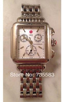 Wholesale 2014 New Brand Michele Deco Day XL Chronograph Silver Stainless Steel Ladies Watch MWW06A00A0025