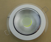 No bathroom waterproof panels - price W COB Glass Panel Light Recessed Cabinet Wall Lamp White Body Waterproof Ceiling Light For Kitchen bathroom illumination