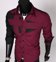 Wholesale NEW Mens Fashion Cotton Designer Cross Line Slim Fit Dress man Shirts Tops Western Casual S M L XL Men s Shirts Men s clothing
