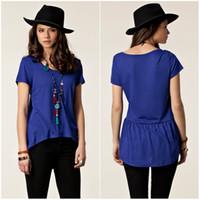 Women korea fashion blouse - Korea Fashion Womens Ruffle Blouses Sexy Summer Tops Vintage Ladies Blouse European Style Casual top T shirts