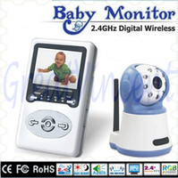 Color baby display screen - GreatVincent Freeshipping Wireless Digital Baby Monitor with IR Zoom Two Way Speak IR Night Vision Camera inch LCD Screen