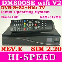 Wholesale 2014 Satellite tv Receiver DM800SE V2 wifi GB Flash MB RAM REV E motherboard DM800hd se HbbTV amp Web browser with sim2 v2
