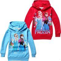 Wholesale Lowest Price yrs Baby boys girls Hoodies Frozen outerwear Child Long sleeve hoodies Kid apparel Cartoon sweatshirts