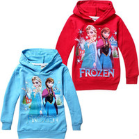 Wholesale Hot Sale New yrs Baby boys girls Hoodies Frozen outerwear Child Long sleeve hoodies Kid apparel Cartoon sweatshirts
