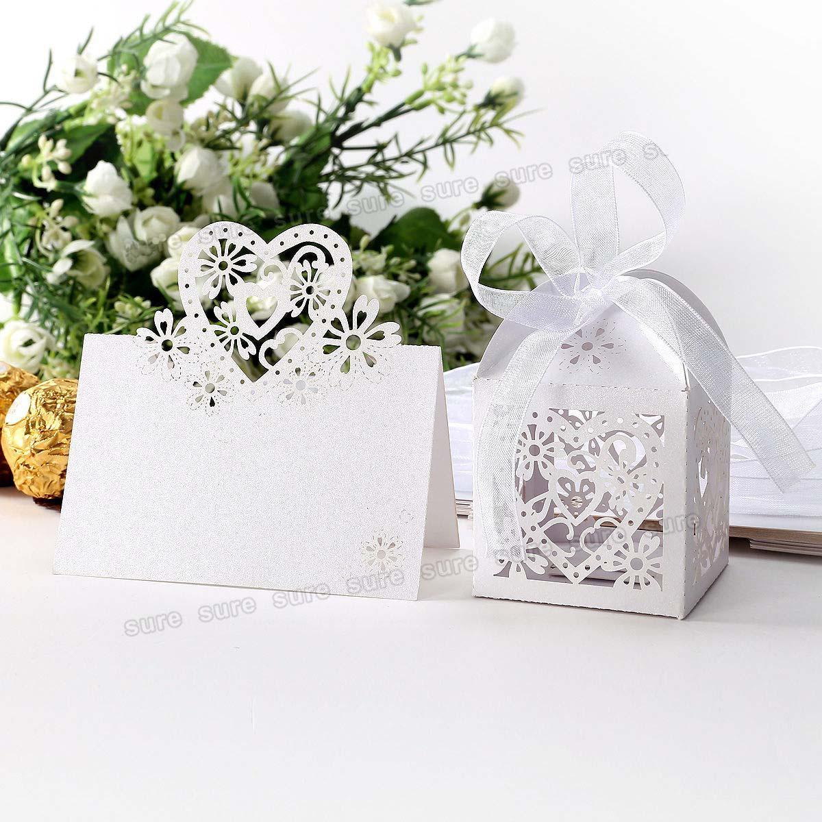Wedding Favor Boxes Trinidad : Laser cut filigree love heart wedding favor boxes